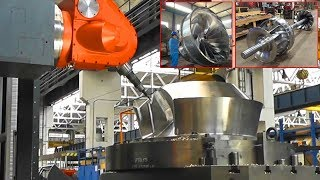 Modern CNC Automatic Milling Machine & Biggest Turbine Blades Manufacturing by CNC Milling Machine