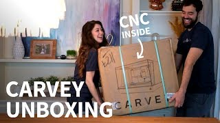 Carvey unboxing & first run (CNC milling / 3D carving machine)