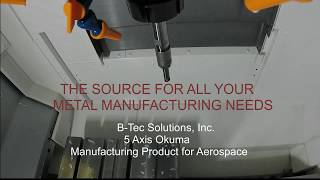 5 Axis Machining of a Manufactured Part for Aerospace