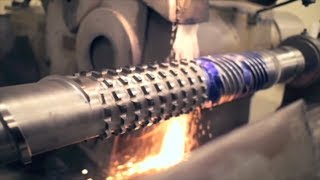 Fastest High Precision CNC Roll Turning Lathe Machine, Metal CNC Machine in Action