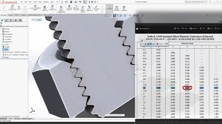 SolidWorks Tutorial | How to Assemble Bolt and Nut M10 – Threads and Tolerances – Explain