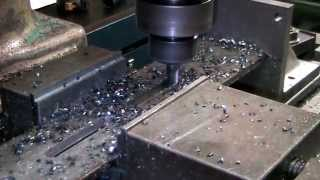 Excello mill cutting a slot with 1/2 solid carbide endmill