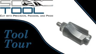 Rotary Cutting Tool Tour of a flat bottom drill, multi-step reamer & countersink