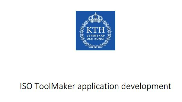 ISO ToolMaker application development