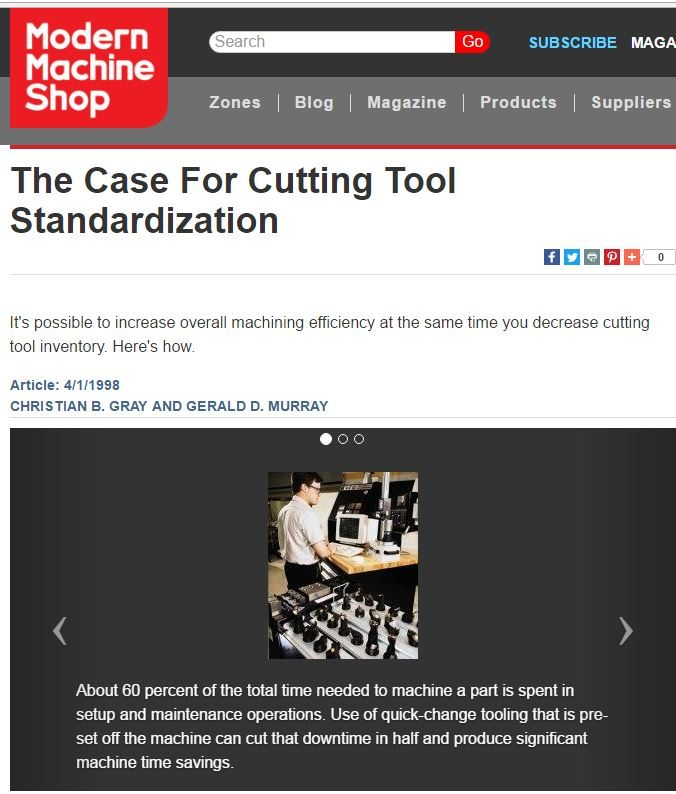 The Case For Cutting Tool Standardization
