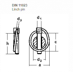 DIN 11023 Linch Pin